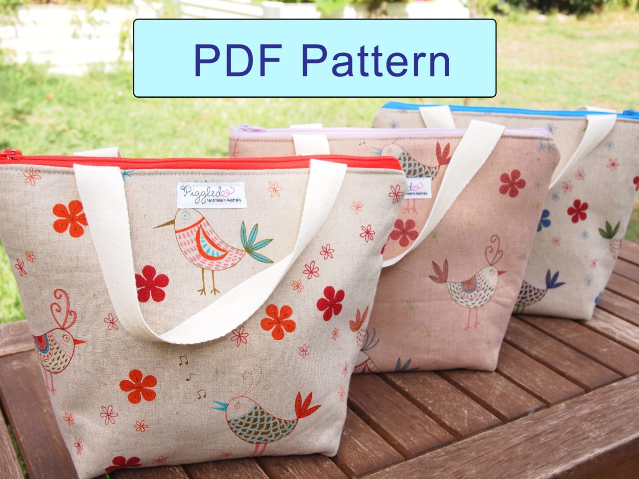 Insulated lunch bag diy pdf pattern with detailed