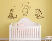 Classic Winnie the Pooh, Tigger, and Eeyore graphics vinyl wall decal