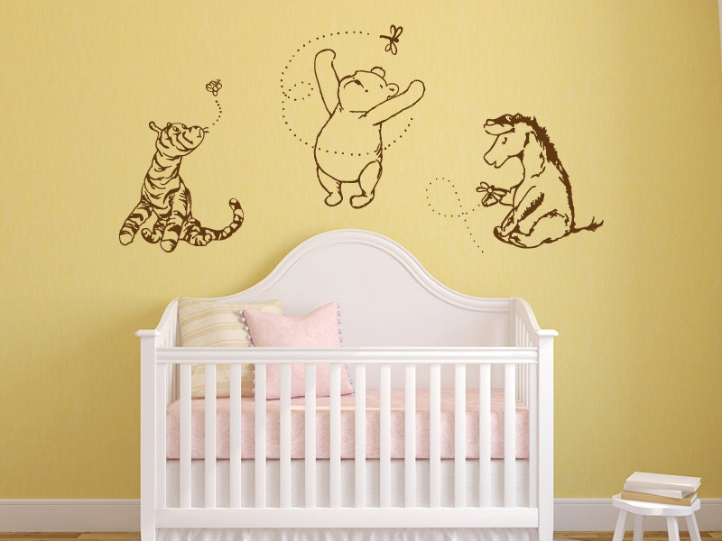 Classic winnie the pooh tigger and eeyore by grabersgraphics for Classic winnie the pooh mural