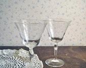 Vintage Pair of Cocktail Glasses