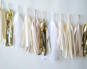 Champagne Fizz Nude Sparkle & Shine Tissue Tassel Garland