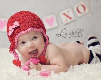 Valentines Day Hat with Heart