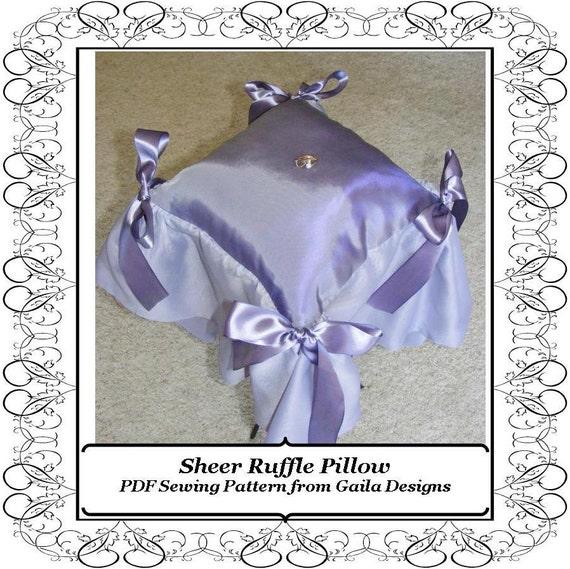 Sheer Ruffle Pillow PDF Sewing Pattern DIY, Ring Bearer Pillow Wedding