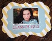 Photo Graduation Announcement - 50 Double Sided 5x7 Ornate Annoucements