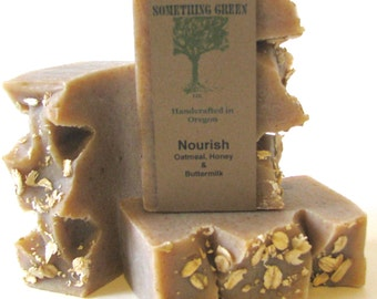 Nourish - Oatmeal, Buttermilk & Honey Soap - Moisturizing Soap, Natural Soap, Handmade Soap