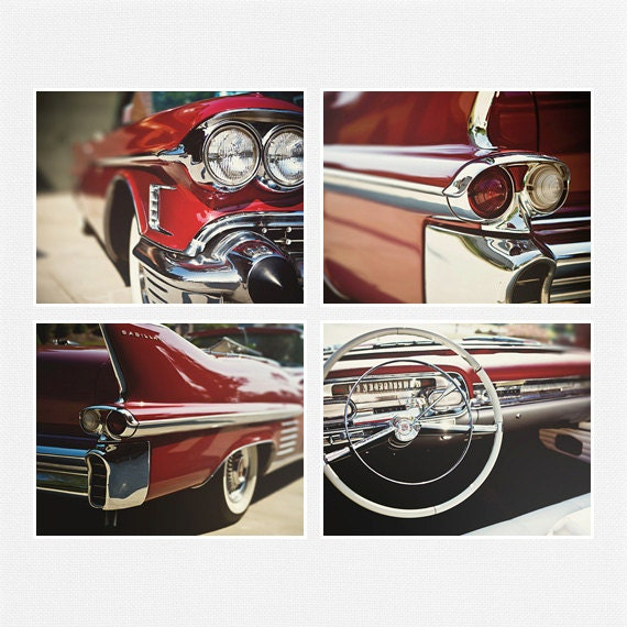 Red Cadillac Pictures Classic Car Prints By LisaRussoFineArt
