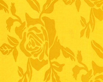 """SALE 1 Yard """"Roses"""" in Gold, Vicki Payne, For Your Home Sateen, Home Dec"""