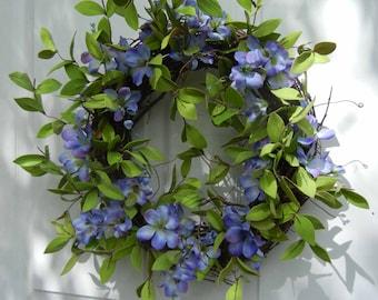 Spring  Wreath , Wreath , Wreath For The Door , Cottage Chic Wreath -  Door Decor