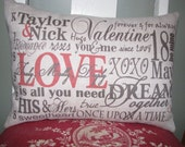 Personalized Valentine Pillow