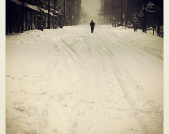Photography, new york, snow, black and white, art, print