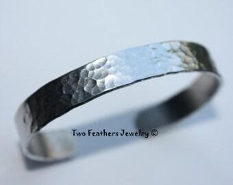 Hammered Cuff Bracelet - Textured Cuff - Skinny Metal Cuff - Gift For Her - Non Tarnish Cuff - Birthday - Valentines Day - Mothers Day