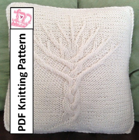 Free Knitting Pattern For Tree Of Life Baby Blanket : Tree of Life knit pattern Tree of Life pillow cover knitting