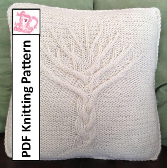 Tree Of Life Knitting Pattern : Tree of Life knit pattern Tree of Life pillow cover knitting