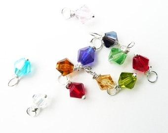 Birthstone jewelry charms