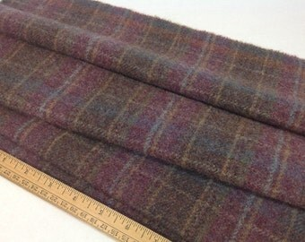 Rug Hooking and Applique Wool, Select-a-Size, Dusty Purple Plaid, J649