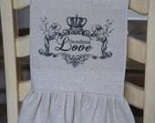 French Valentine Tea Towel - Unconditional Love