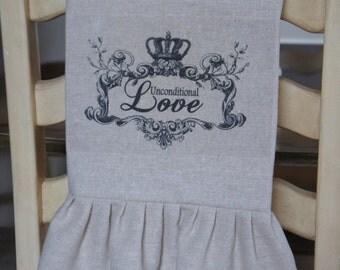 French Valentine Tea Towel - Unconditional Love