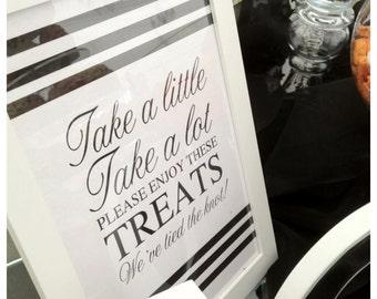 Wedding Reception Candy Bar/Buffet Sign