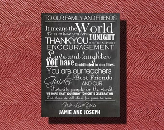 Printable Chalkboard Wedding Day Thank You for Guests