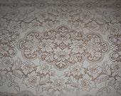 Vintage Quaker Lace Tablecloth Ecru  Rectangle