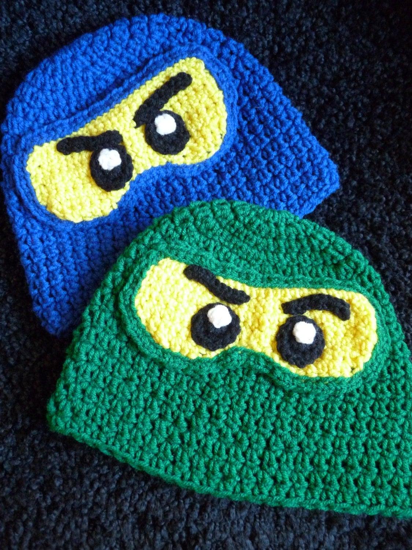 Ninja Lego Ninjago Inspired Crochet Hat I Can Knit Too