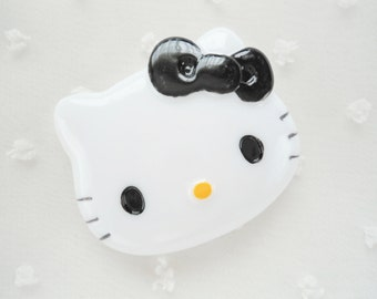 1pc - LL Black Bow Kitty Decoden Cabochon (47x38mm) HK10007