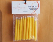 Set of 12 Yellow Soy Birthday Candles