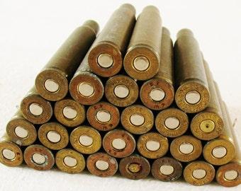 LOT 28 Large  Vintage 30-06 SPRG Brass Bullet Shells Casings Empty Spent Craft DIY