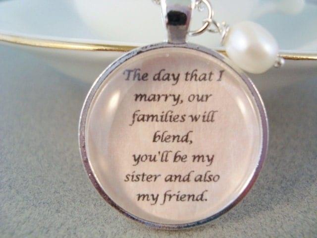 sister in law pendant necklace sister in by SweetlySpokenJewelry