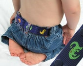 "Toddler Belt - ""Dinosaurs"" - Elastic Snap Belt"