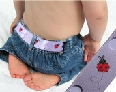 """Toddler Belt - Elastic Snap Belt - """"LadyBug"""""""