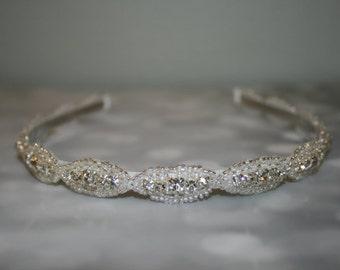 Wedding Hair Accessory, Rhinestone Headband, Bridal Headband, Bridal Accessories, Wedding, DAKOTA