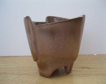 Vintage Frankoma Pottery Planter Bowl Brown - FL
