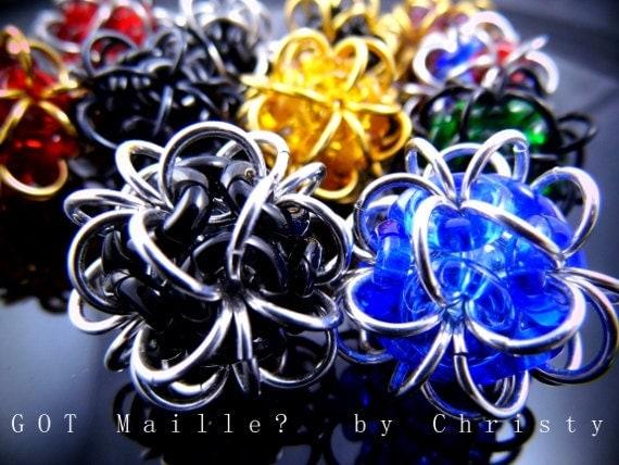Chainmaille Gadget - Glass Fidget Balls - Unique Glass Dodecachedron Balls