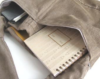 2 large Pockets added to Your Hobo Bag. Exposed Stitched Pockets. CUSTOM OPTION to add on to any bag.