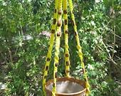 Yellow 50 Inch Beads Macrame Plant Hnanger