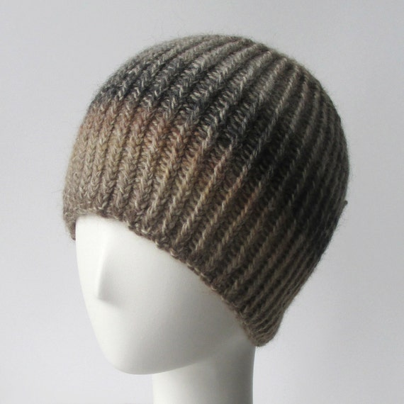 Knit Hat Pattern // Twisted Rib Reversible Hat - pattern only - PDF from shop...