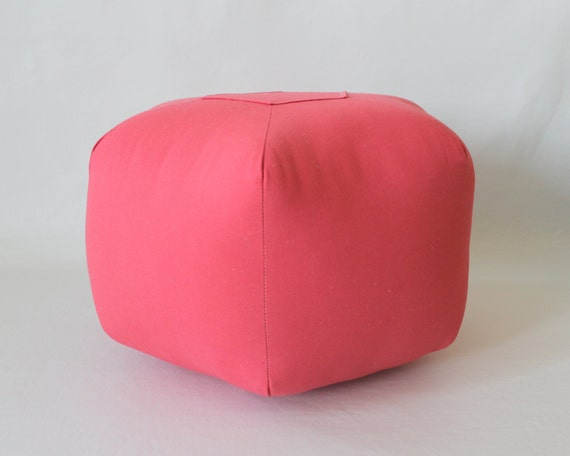 18 Pouf Ottoman Floor Pillow Solid Coral By Aletafae On Etsy