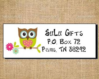 SALE Super Cute Owl Personalized Address Labels or ask for Custom Address Labels