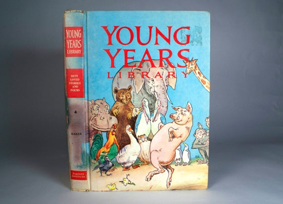 "Vintage Book Children's ""Young Years Library "" 1965 Best Loved Stories and Poems"