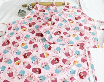 So Many Cupcakes Pink Mother Daughter Aprons