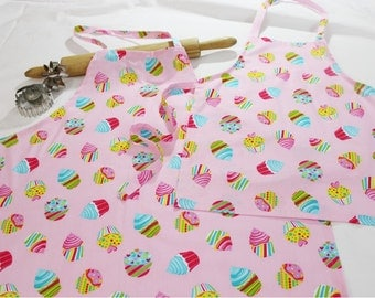 Cotton Candy Cupcakes Mother Daughter Aprons