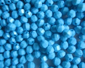 SALE - Blue Acrylic Beads 6mm 24 Beads