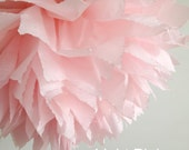1 Light Pink Tissue Paper Pom Pom, Pink Party Decor, Nursery Decoration, Paper Poms, Paper Flowers, Sweet Sixteen, Pink Baby Shower