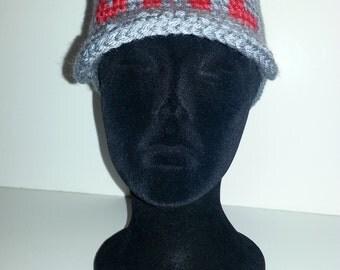 Crochet monogram Visor