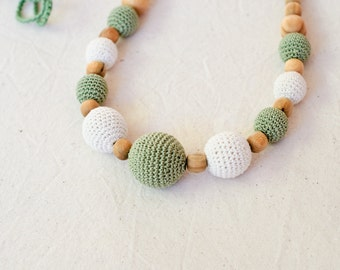 Olive & Cream Nursing Necklace / Teething Necklace for mom to wear