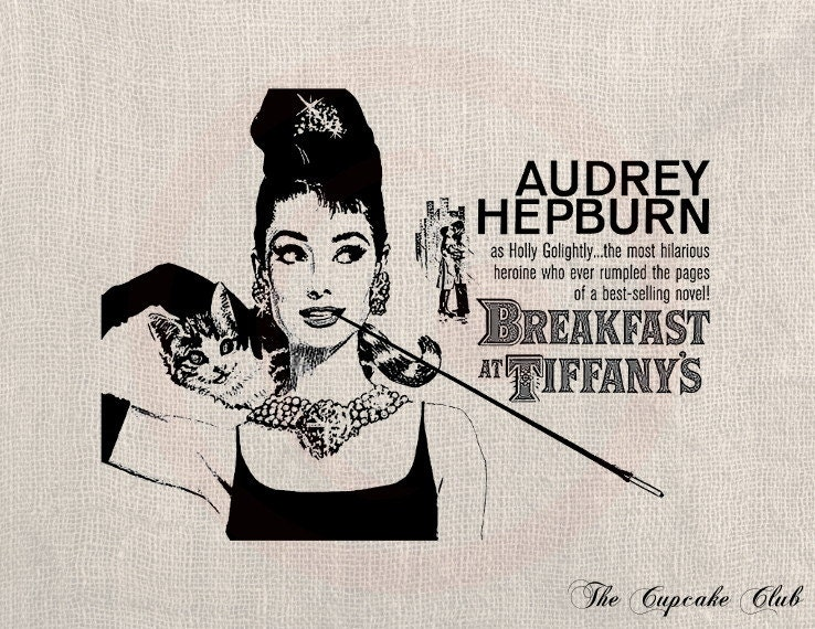 audrey hepburn breakfast at tiffanys movie poster | memes.trending ...