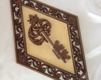 Retro Wall Hangings Vintage Key Ornate Decor