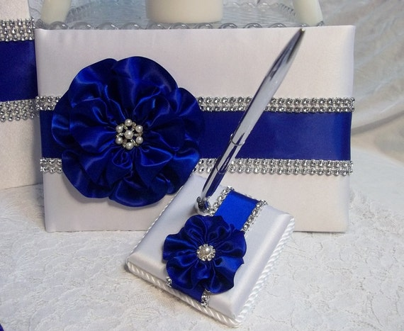 Wedding Guest Book Wedding Guest Book And Pen Set Royal Blue