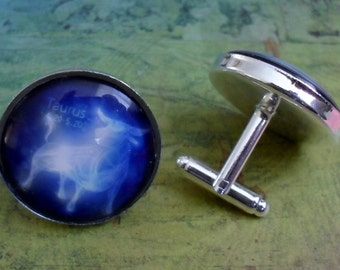 Zodiac Cuff Links / Taurus Cufflinks / Gift for Taurus / Constellation / Astrological gift / Zodiac sign cuff links  / cufflink / Celestial